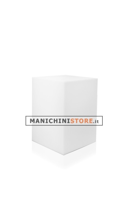 Cubo in plastica illuminabile 53 manichini store for Cubo plastica arredamento