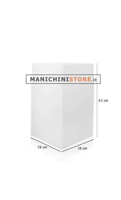 Cubo in plastica illuminabile 63 manichini store for Cubo plastica arredamento