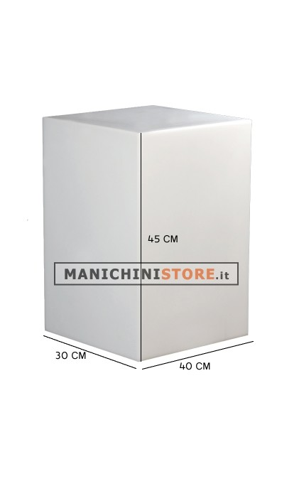 Cubo in plastica illuminabile 45 manichini store for Cubo plastica arredamento