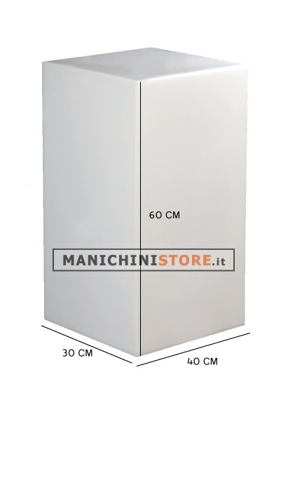Cubo in plastica illuminabile 60 manichini store for Cubo plastica arredamento